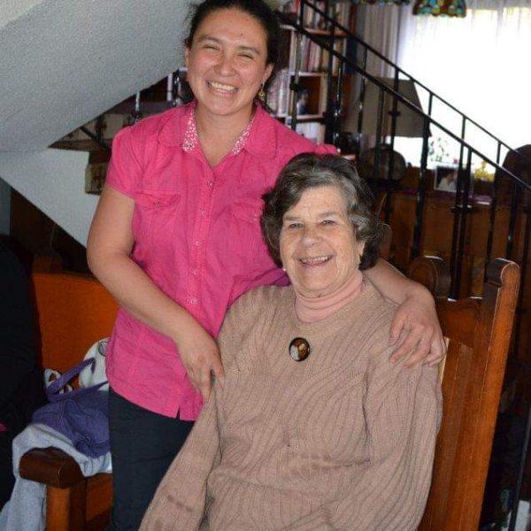 Bárbara con Renate, su madrina